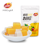 Halal assorted soft gummy sweet 2 in 1 mango and coconut flavor candy