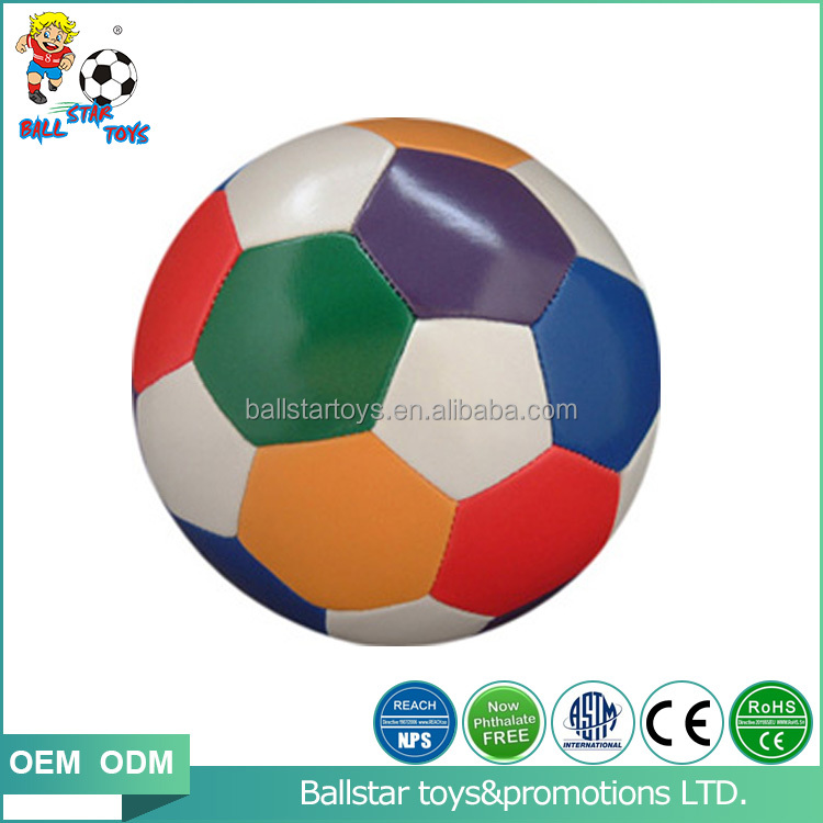 4 inch Vinyl PVC PU leather stuffed colorfull soccer football toys stress ball