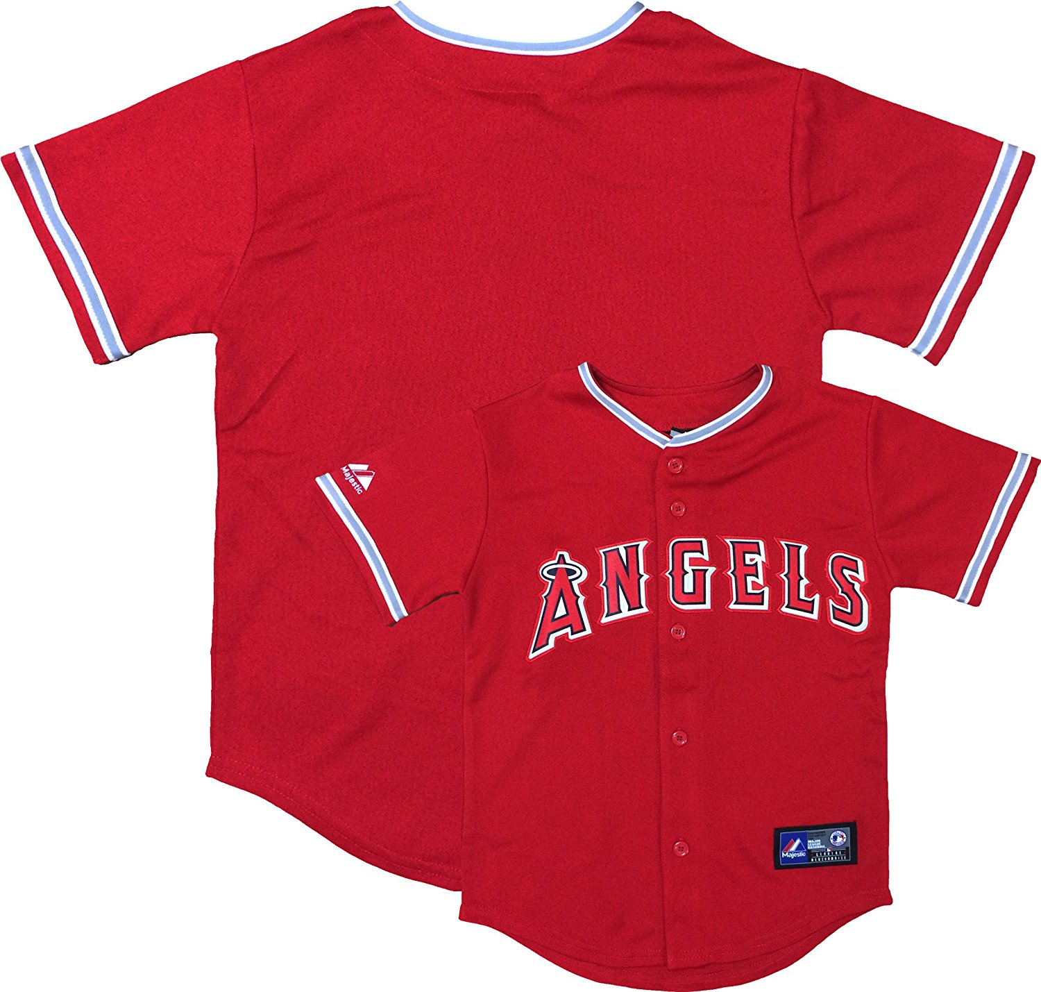 faaed4e15 Get Quotations · Outerstuff Los Angeles Angels Word Mark Red Youth  Authentic Alternate Replica Jersey