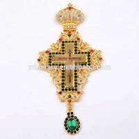 Christian Orthodox Gold Plated Bishop Encolpion Cross