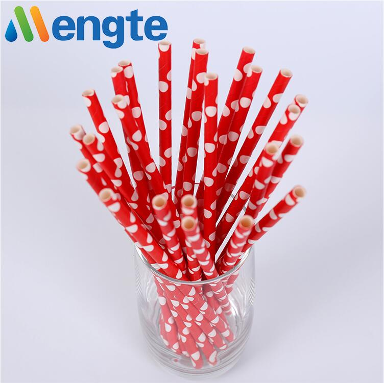 Mengte Price New Design Straws Hot Biodegradable Bamboo Drinking Paper Drinking Straw