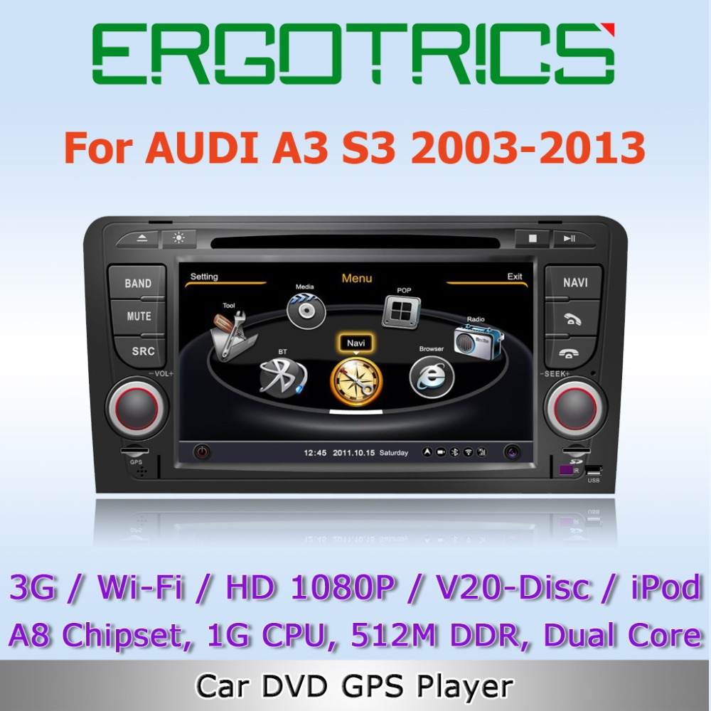 3g wifi car dvd stereo gps sat navi headunit for audi a3. Black Bedroom Furniture Sets. Home Design Ideas