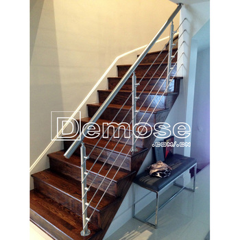 Diy Interior Escalera De Barandilla De Hierro Pasamanos De La