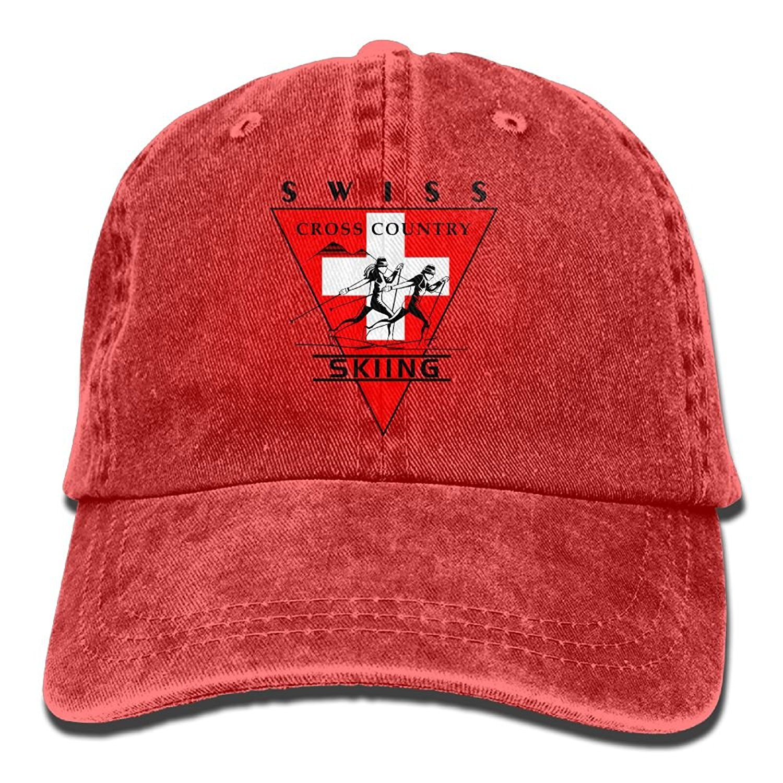 Get Quotations · RTN HATS Swiss Flag Cross-Country Skiing Men Plain Dad Hats  Cotton Denim Adjustable Baseball e021b1b82224