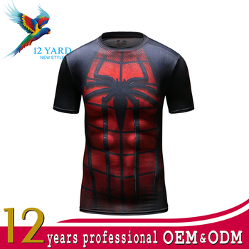 China new design sublimation printing sports quick dry fit for Sublimation t shirt printing companies