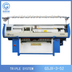 High Speed Three System Sweater Automatic Flat Knitting Machine,Home Textile
