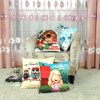 Christmas style 45*45cm cartoon home decor floor pillow digital printing cushion cover