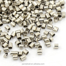 Brass Tube End Beads Crimp Terminal for Jewelry Making, 1.5mm Diameter, Hole: 1mm, about 1790PCS/Bag(X-E001-NF)