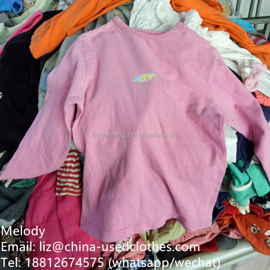 used clothes/used children long-sleeve T-shirt
