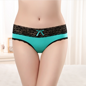 2018 Special Design Panty With Lace Embroidery Ladies' Sexy Fancy Panty Thong Soft High Quality Woman Underwear