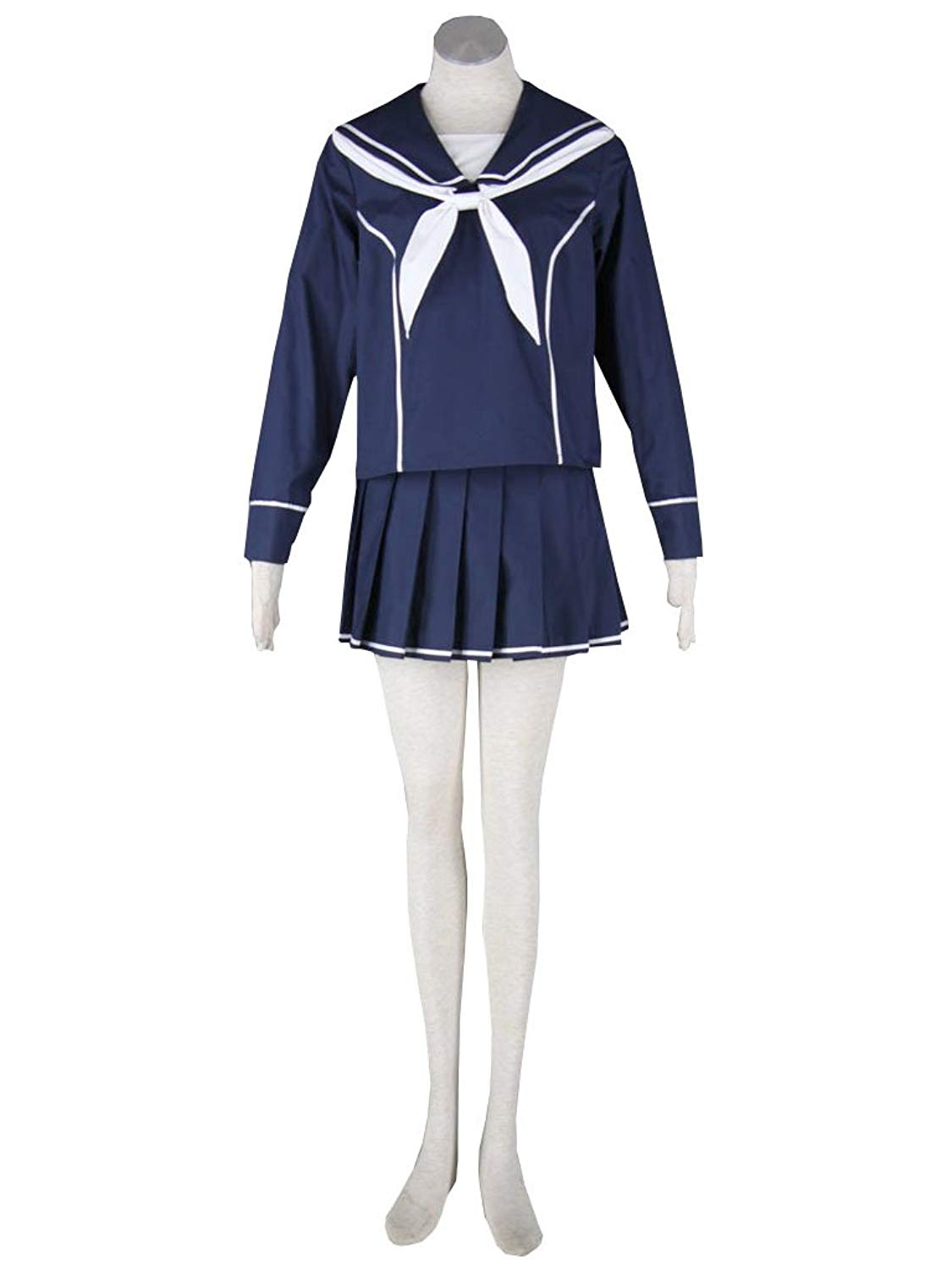 antaina Lovely Navy Lolita Cosplay Pleated Dress Bowknot Sailor School Uniform