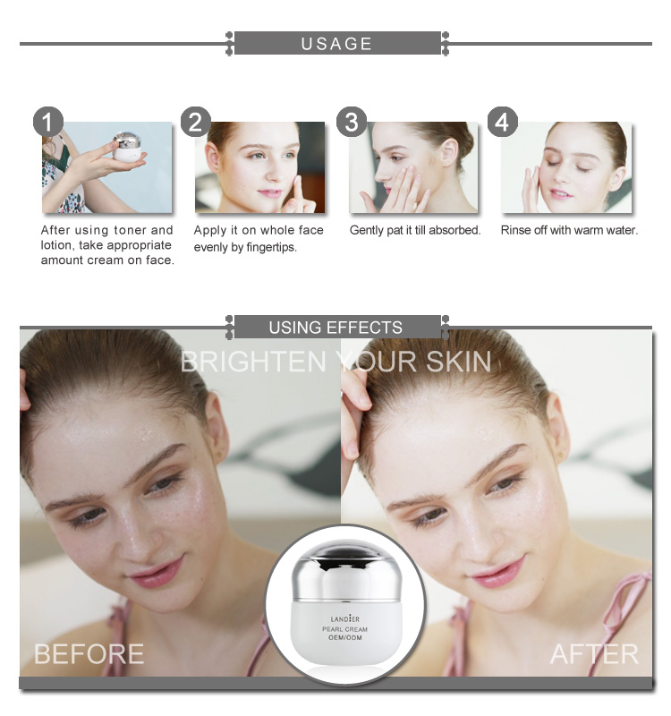 Private Label Best Skin Care Pearl Whitening Cream for Beauty Face