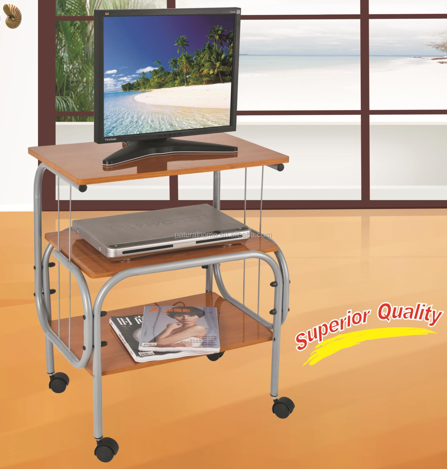 Top Panama Simple Wooden Tv Stand Particle Board Metal Trolley With Wheels