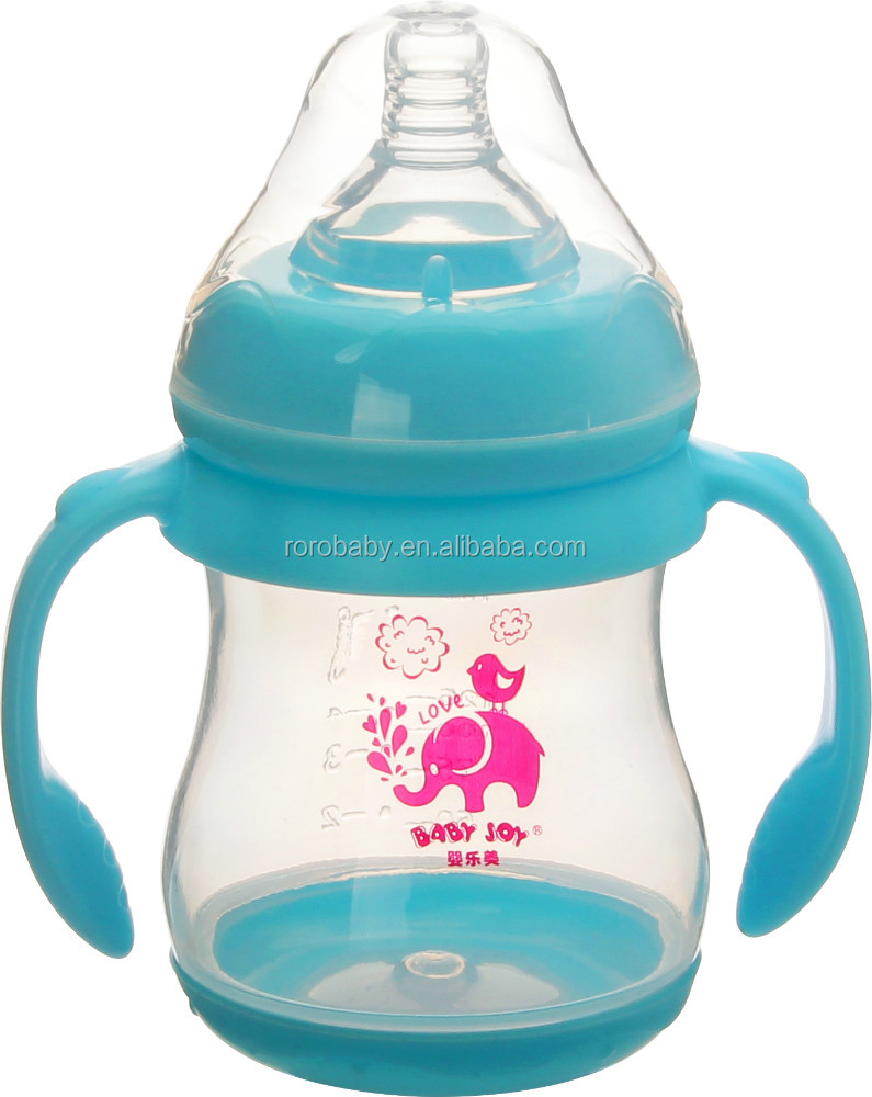 High quality 9OZ color changing baby bottle super wide neck feeding bottle
