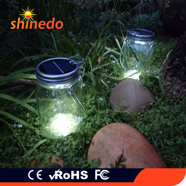 Hanging 4 led magnetic switch solar sun jar for gifts