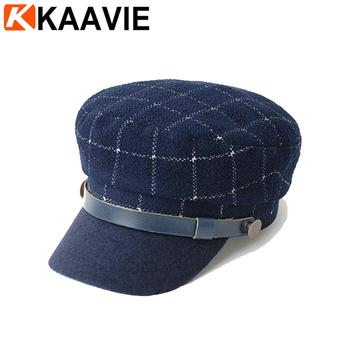 Personalizado de moda unisex de fieltro de lana tartán griego pescador  sombrero con cinturón ... 22d25a3ddf6