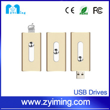 Zyiming Metal Drive i-Flash Device 32GB USB Flash OTG Drive For Apple iPhone 5 5S SE 6 6S Plus iPad Air 4 mini External Storage