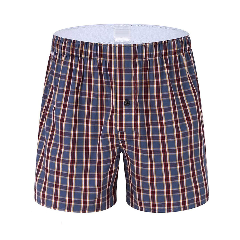 Mens Classics Plaid Home Shorts 100/% Cotton Arrow Tartan Boxer Pants