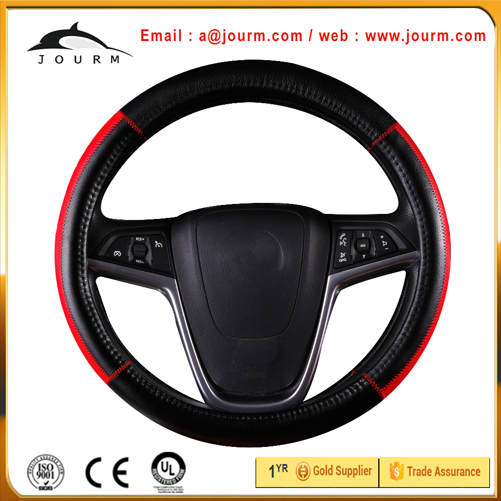 Good quality genuine leather steering wheel cover for kias k3