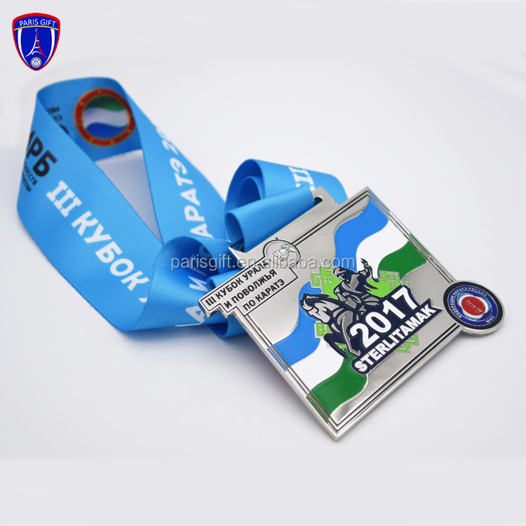 Custom zinc alloy medals and trophies China manufacture of medal with soft enamel