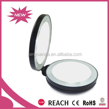 Lighting Magnifier Cosmetic Mirror Plastic Pocket