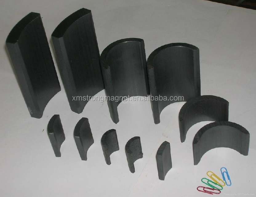 Factory Direct Supply Arc Ferrite Magnets Magnetic Motor Parts