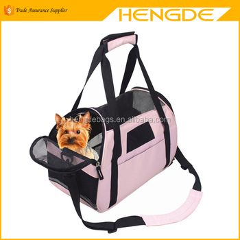Side Open Portable Dog Kennel Pet Carrier Carry Bag