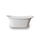 "Sanitary ware 72"" inch Popular boat shaped design bathroom bath freestanding solid surface resin stone marble bathtub"