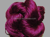 Free sample weaving raw silk yarn polyester spun yarn