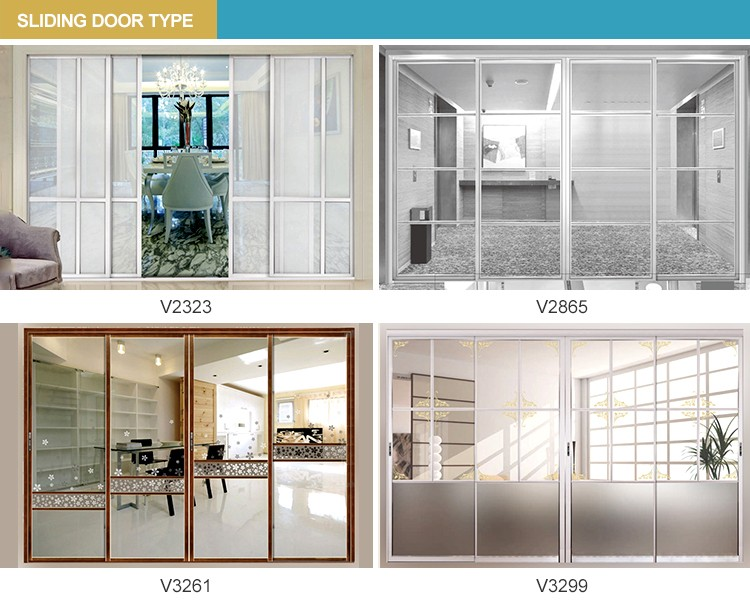 Modern Style Living Room Glass Partition Design