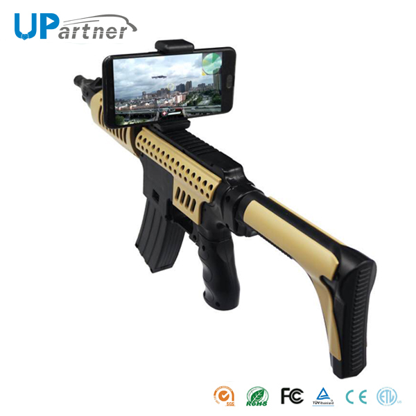 Mobile phone controlled app smart game toy AR gun