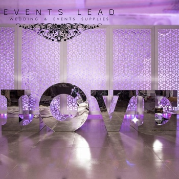 Creative New Design Love Letter Wedding Table Silver Mirror By