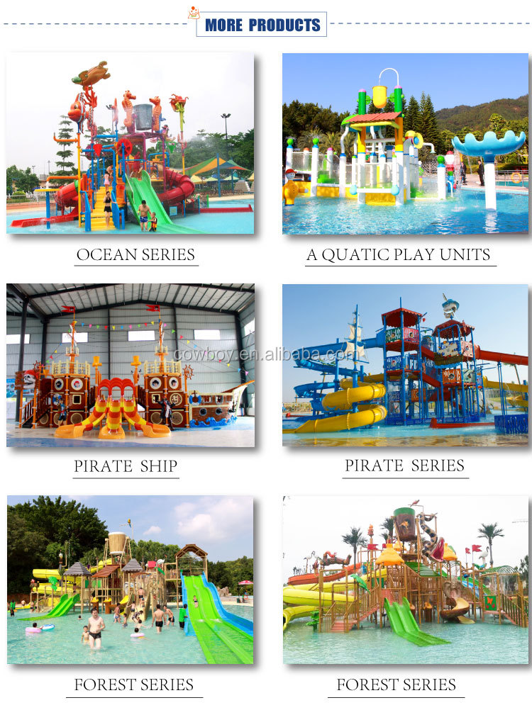 2018 Exciting Fiberglass Water Park Slides for Sale