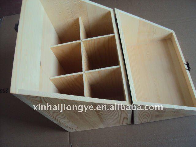 caja de madera del vino para botellas
