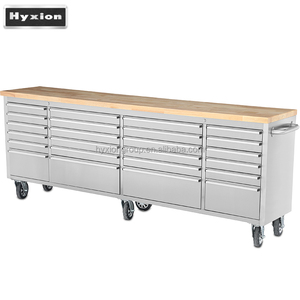 96inch Stainless movable workbench with multi drawers