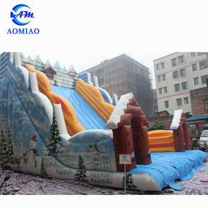 Factory price cheap inflatable snow slide,used inflatable water slide for sale