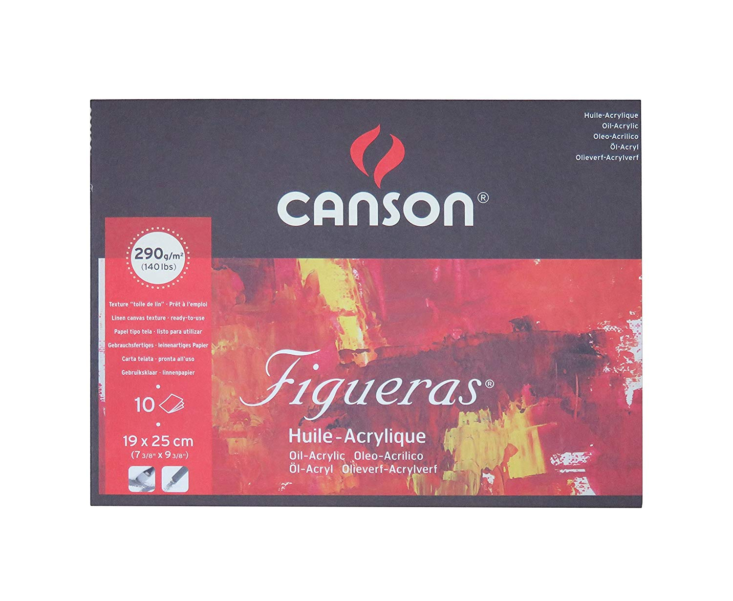10 Sheets Sized Heavyweight No-Buckle Paper Fold Over Canson Artist Series Montval Acrylic Pad 185 Pound 9 x 12 Inch
