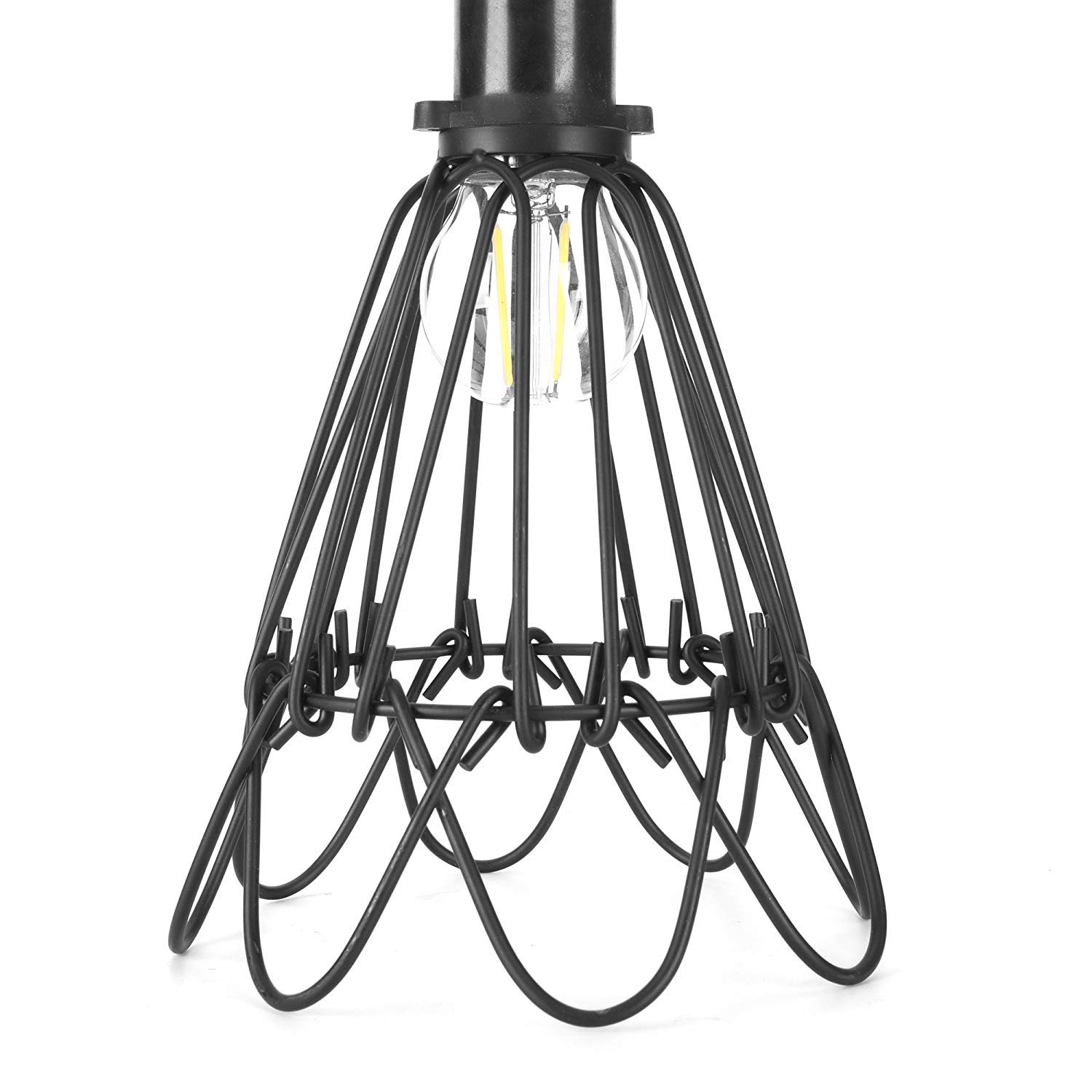 cheap bird cage light shade find bird cage light shade deals on Fluorescent Light Sockets get quotations industrial metal bird cage l guard string light shade open close flower ceiling hanging pendant island
