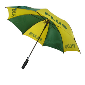 30 inch windproof straight promotional green yellow umbrella