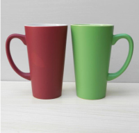 Haonai V shape 450ml colored ceramic coffee mug