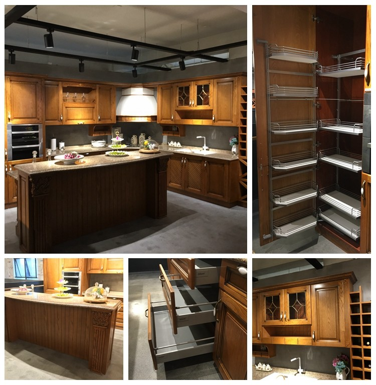 Buy Free Standing Kitchen Cabinets: Aisen Furniture Modular Free Standing Small Solid Wood