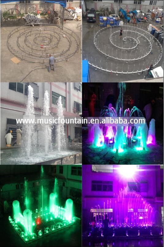 professional make colorful LED lights music dancing indoor water fountain