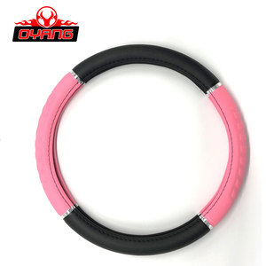 Factory price plastic pink PVC car steering wheel cover