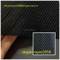 black Car seat cover fabric 100% polyester material,3d leaf air mesh fabric.sandwich fabric. tecido de malha de poliester