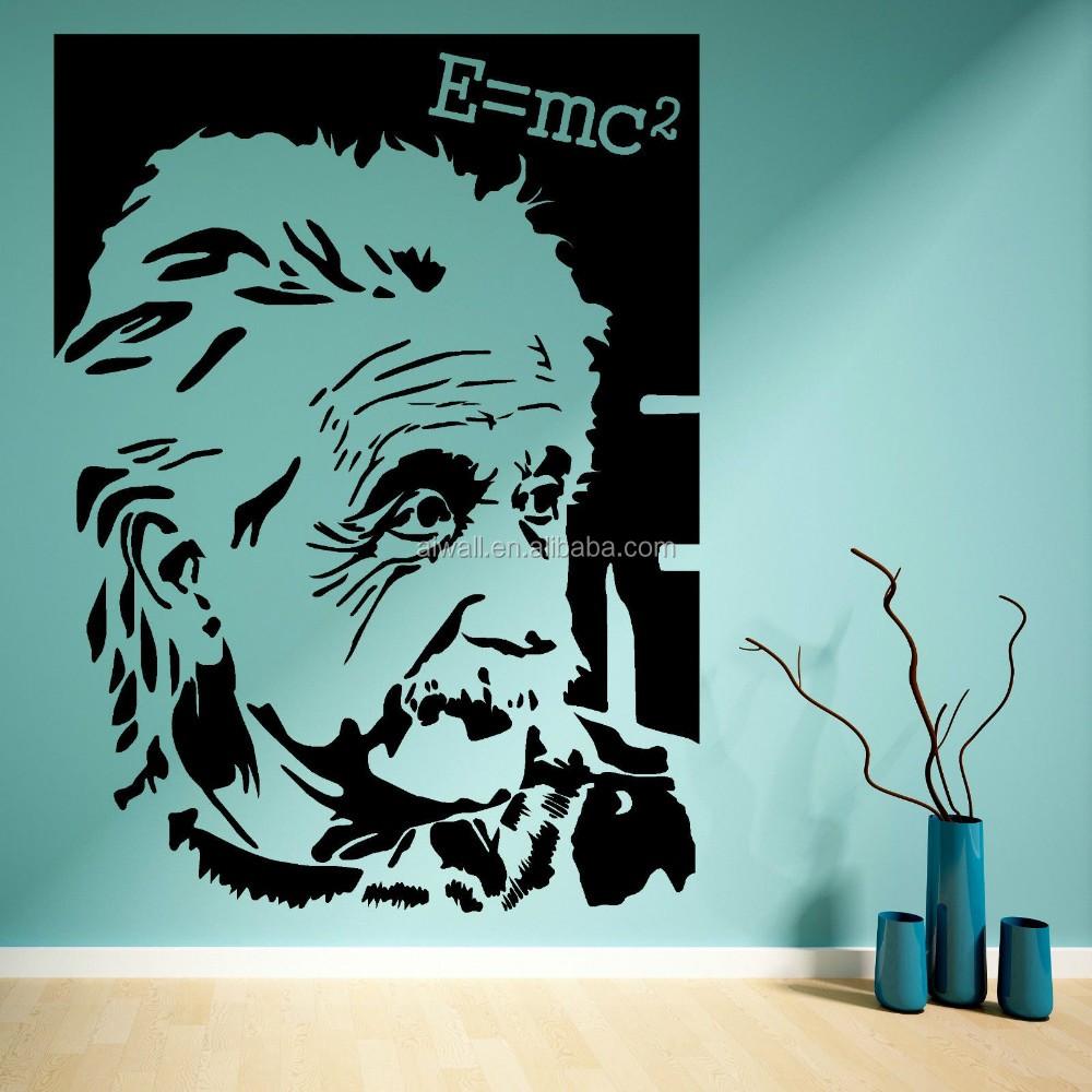 Albert einstein gambar dinding stiker vinyl decals ilmuwan terkenal buy albert einstein gambar dinding stikerilmuwan terkenal vinyl decalse mc2