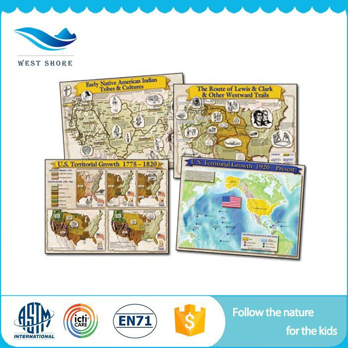 Modern Design Kids Education World Map With Great Price