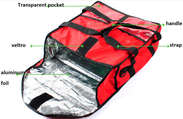3pcs 12 Pizza Hut Bag Aluminum Foil Insulated Delivery Delivey Insulation Bags Product On