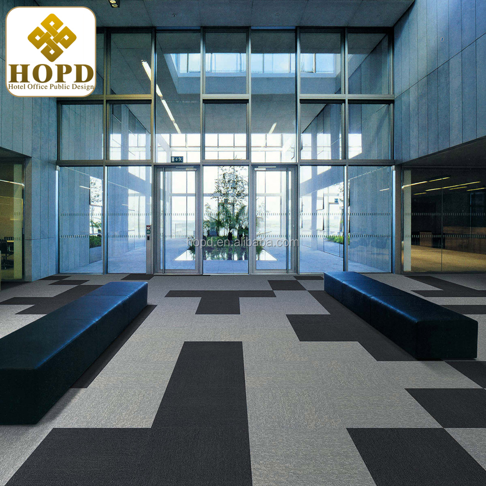 Hot Sell Loop Pile Nylon Carpet Tiles Solid Color Carpet Tiles With ...