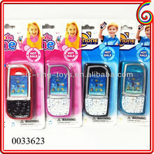 Shantou chenghai cheap toy phone recordable toy cell phone plastic mobile phone toy with music and light