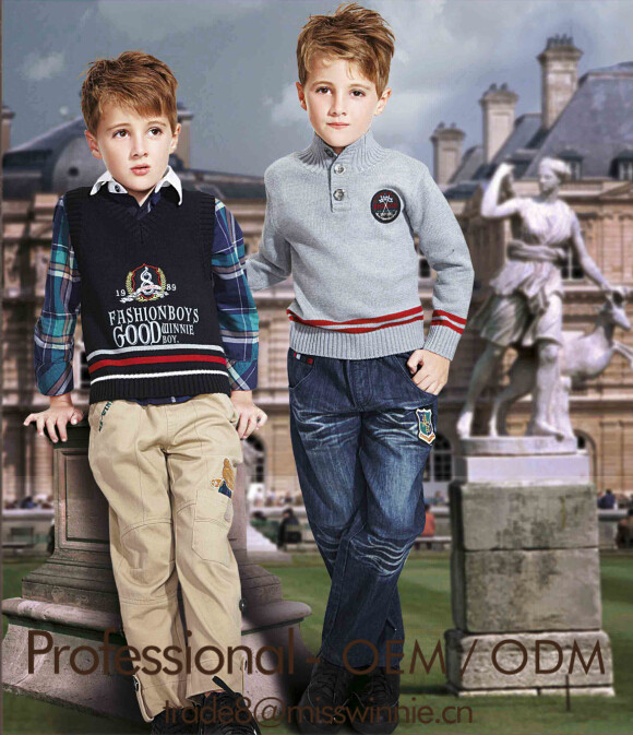 high quality boys warm long sleeve sweaters and sweater vest